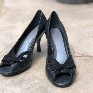 Aerosoles Black Bow Heels
